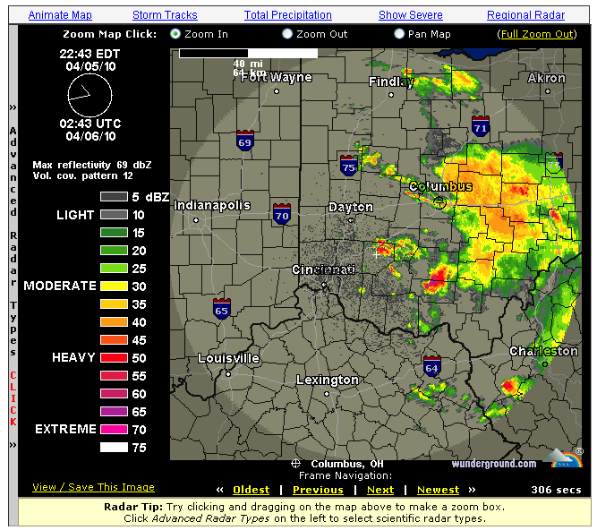 weather underground radar  map