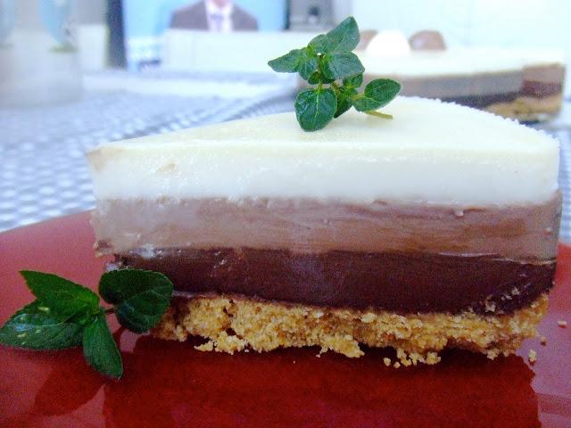 receta paso a paso de tarta tres chocolates con thermomix