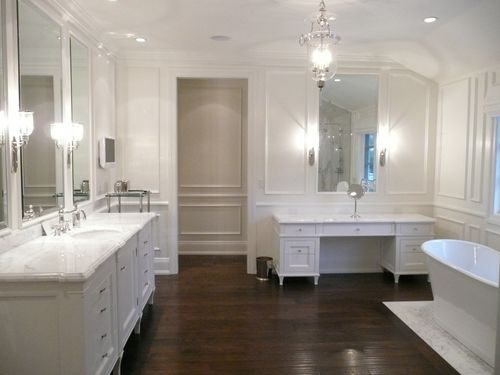 Luxury And Great White Bathroom Design