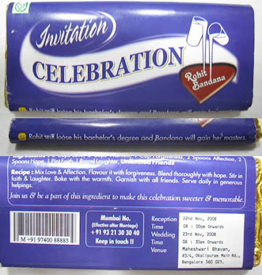 Cadbury-Inspired Invitations