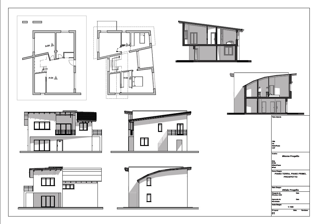 House forms two ferretti studio - Progetto completo casa unifamiliare ...