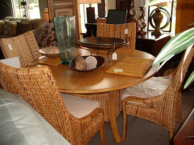 Rattan Dining Group In Stock