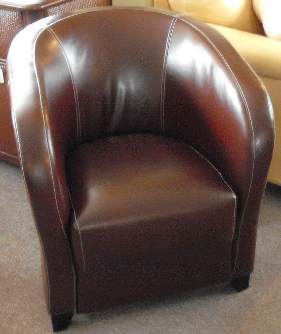 Leather Accent Tub Chair In Stock
