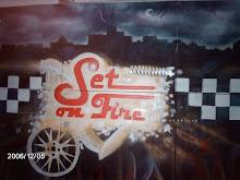Graffiti Set on Fire