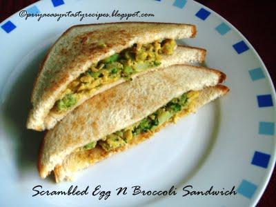 [priya+scrambled+eggs+n+broccoli+sandwich]