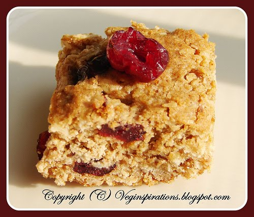 [Usha+Vegan+Orange+Flavored+Cranberry+Oatmeal+Bars+]