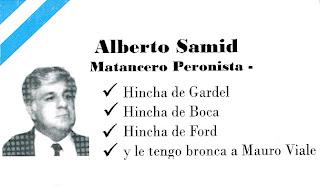Tarjeta de Alberto Samid frente