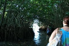 hiking to the lagoon