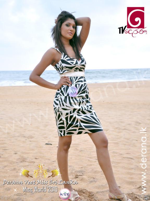 Pushpika Sandamali derana veet miss srilanka image