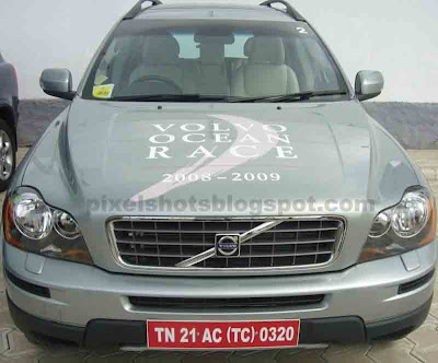 Ocean race car show in cochin, volvo cars in cochin,grey XC90 indian cars and suvs, suv safety features, advanced safety features in cars, strong and fast suvs, american car technology