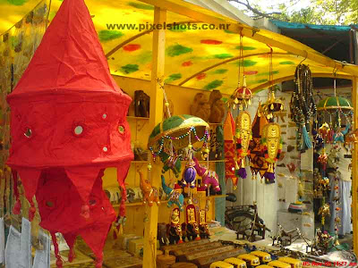 decorative colourful curtain clothes in a fancy shop in mattancherry street side shop,cochin india kerala