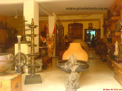 antiques and sculpture shop from mattancherry old jew street india cochin kerala