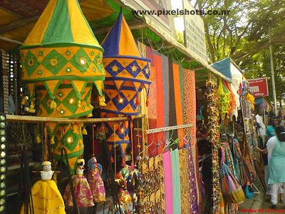 decorative clothes from a fancy street side shop of mattancherry town cochin india kerala