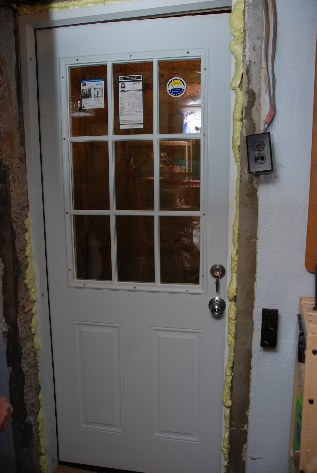We re-secured our door alarm and called the project done for now. We\u0027ll have to wait until it\u0027s warm again to paint the ready-primed door. & our little beehive: becoming handy through home renovation ... Pezcame.Com