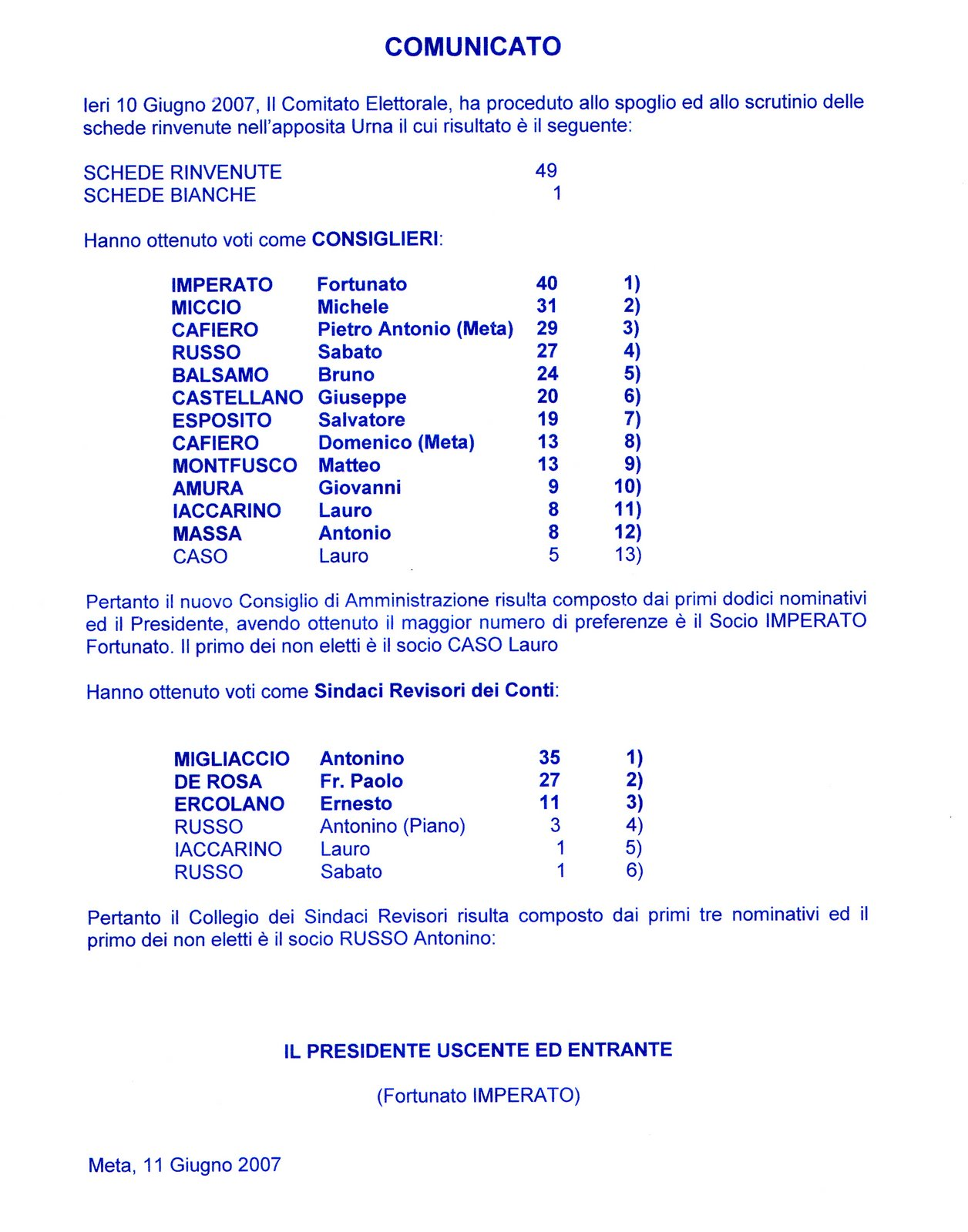 Elezioni Casina 2007