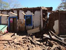 Asi quedó la casa de monica Vargas despues del sismo