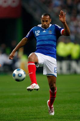 Thierry Henry perfil del experimentado delantero galo - Figuras del Mundial Sudafrica 2010