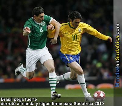Brasil vencio a Irlanda en amistoso