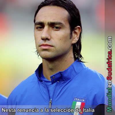 Alessandro Nesta renuncia a la seleccion de Italia