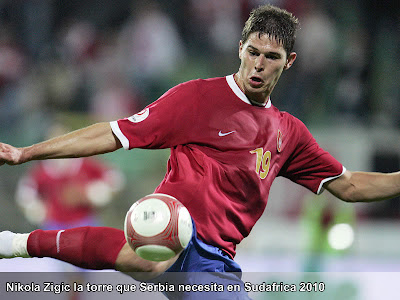 Nikola Zigic la torre Serbia - Figuras del Mundial Sudafrica 2010