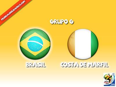 Brasil vs Costa de Marfil en vivo Grupo G