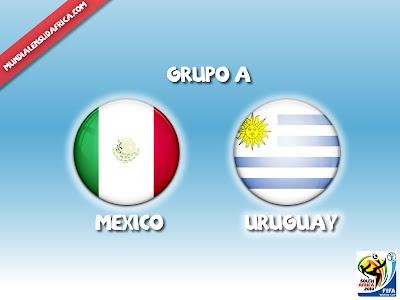 Partido Uruguay vs Mexico Grupo A