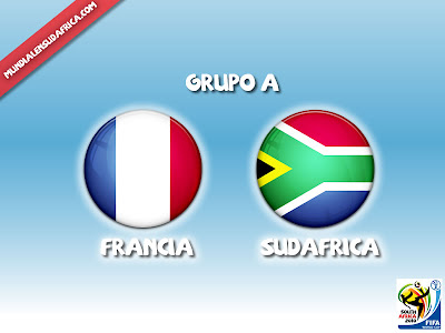 Partido Francia vs Sudafrica Grupo A