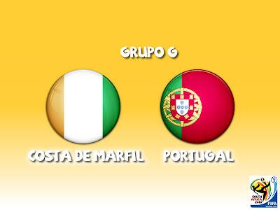 Costa de Marfil vs Portugal Grupo G