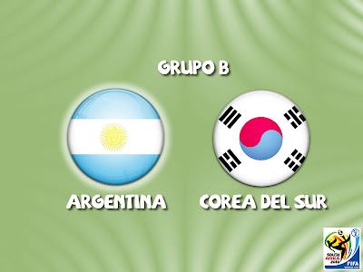 Argentina vs Corea del Sur Grupo B