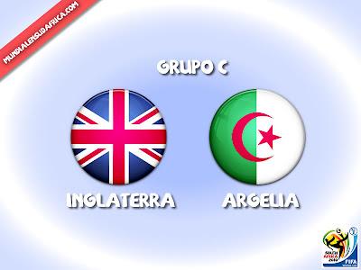 Inglaterra vs Algeria Grupo C