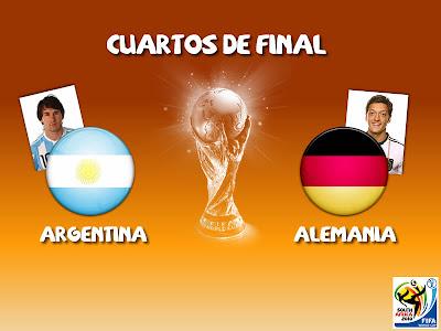 Partido Argentina vs Alemania Cuartos de Final