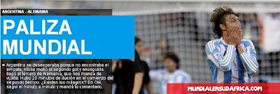 Argentina eliminada del Mundial 2010