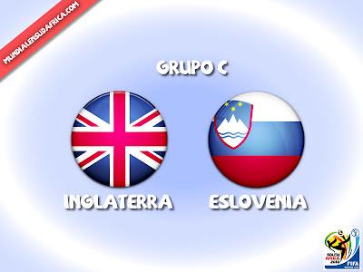 Partido Inglaterra vs Eslovenia Grupo C