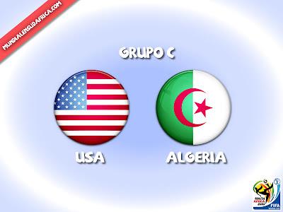 Partido Usa vs Algeria Grupo C