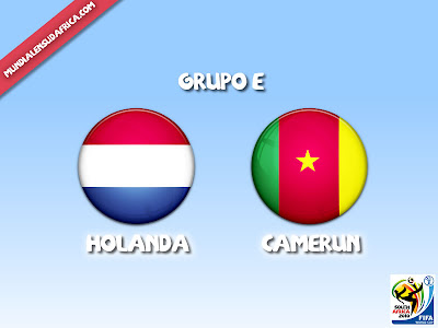 Partido Holanda vs Camerun Grupo E