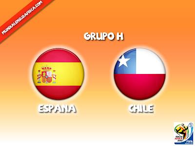 Partido España vs Chile Grupo H