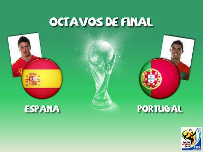 Partido España vs Portugal Octavos de Final