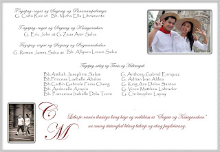 Wedding and Marriage Guide in Manila Tagalog Wedding Invitation