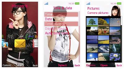 Victoria@韓國女子組合F(x)SonyEricsson手機主題for Aino﹝240x432﹞