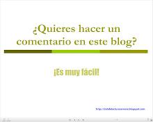 Cómo hacer comentarios en el blog
