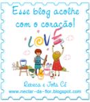 Selo Esse blog acolhe com o coração!