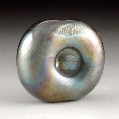 Dark Silver Plum Eye Bead