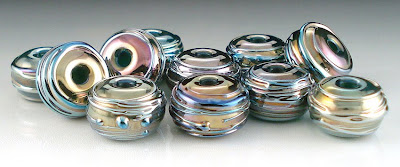 Colorful Metallic Textured Beads