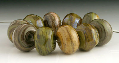 Organic Lampwork Beads by beadabundant