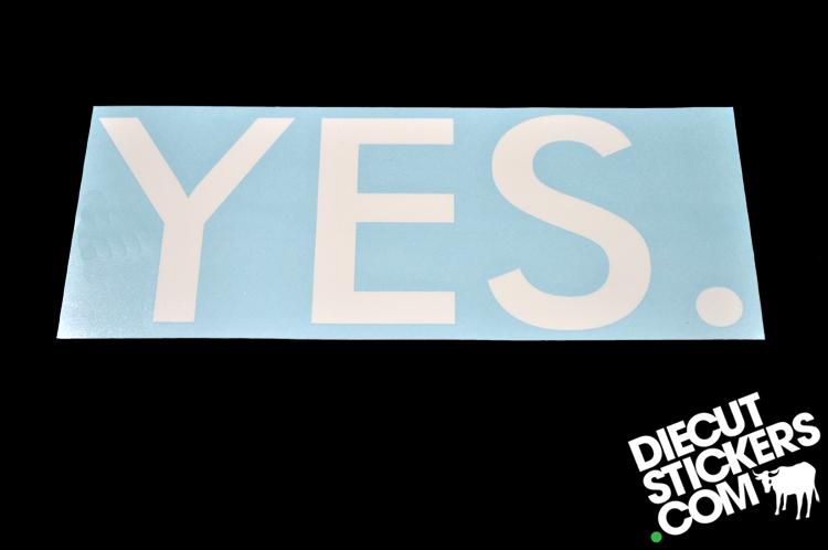 YES SNOWBOARDS DieCutStickerscom - Custom die cut vinyl stickers snowboard