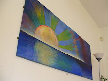 Large painting of sunset at the four winds