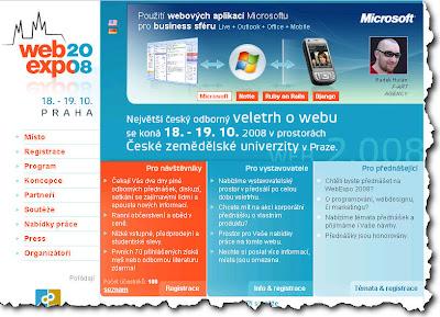 WebExpo 2008 - veletrh o technologiích, webdesignu