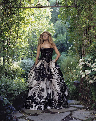 Model, Eva Mendes ,Beautiful Romantic Garden Photo Shoot