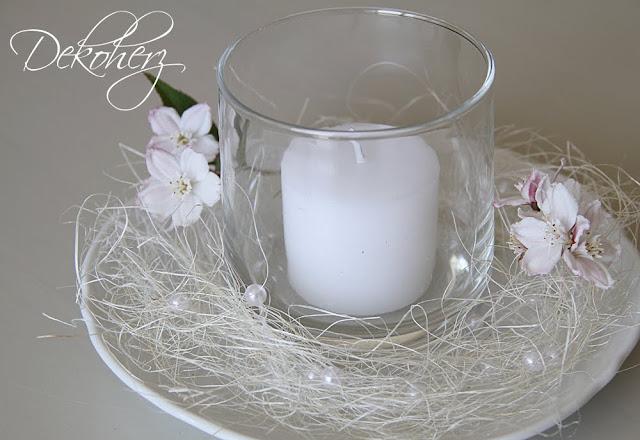 dekoherz blumen glas kerzen das passt immer. Black Bedroom Furniture Sets. Home Design Ideas