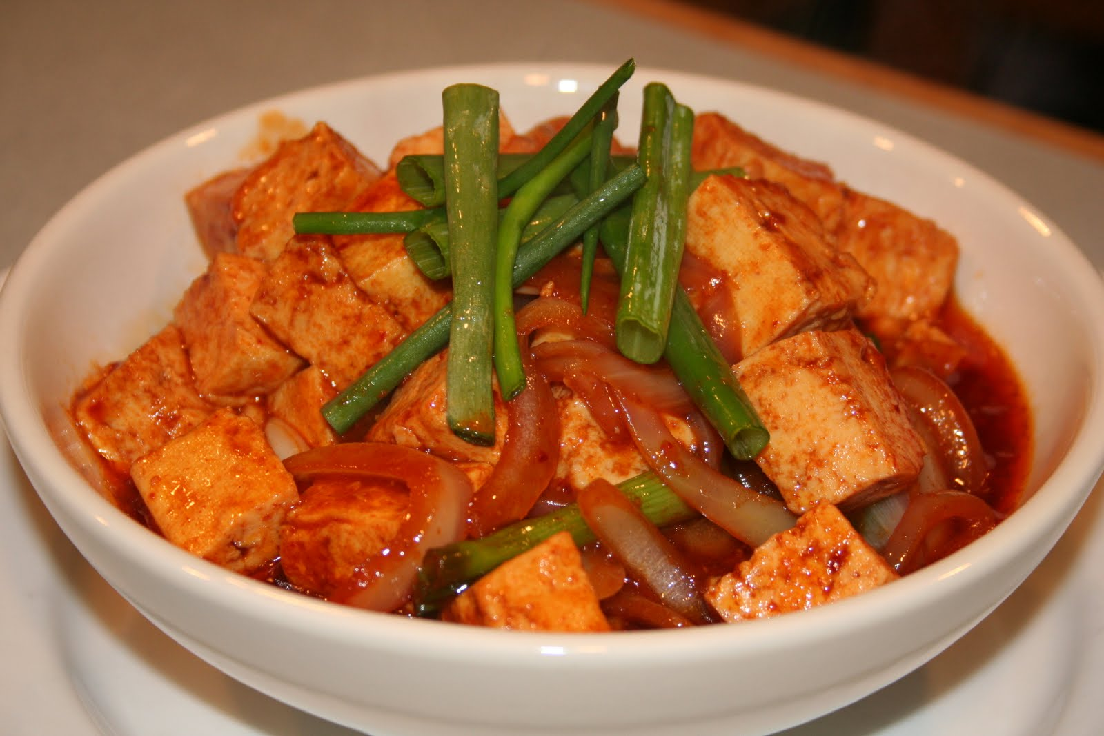COOK WITH SUSAN: Spicy Korean Tofu